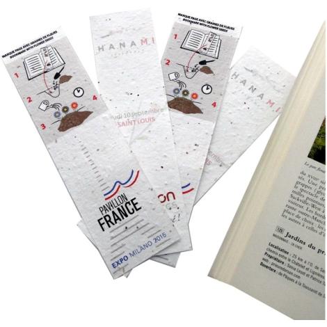 Marque page tapis de semis personnalisable
