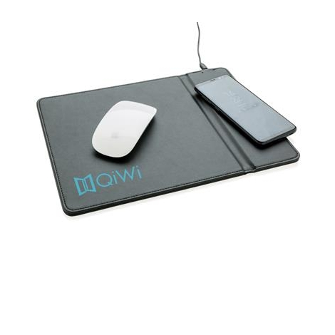Tapis de souris avec chargeur à induction 5W publicitaire