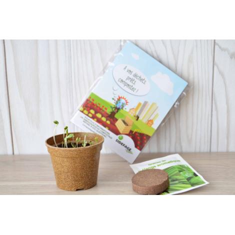 Kit de plantation - Fiche herbier ludique personnalisable.