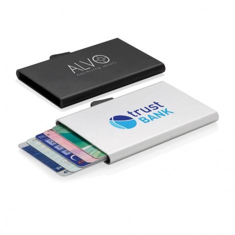 Porte-cartes en aluminium anti-RFID C-secure