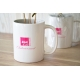 Caféier en mug publicitaire.