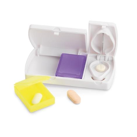 Pilulier promotionnel avec coupe pilule