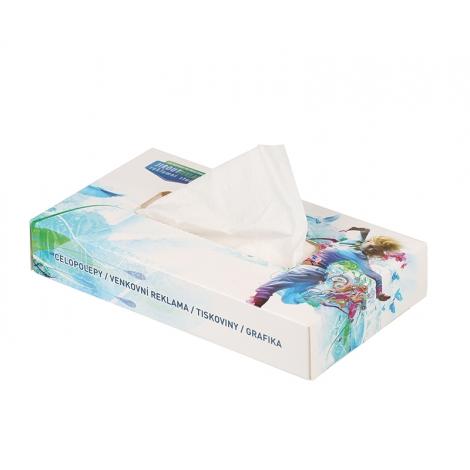 Boîte de mouchoirs rectangulaire à personnaliser.