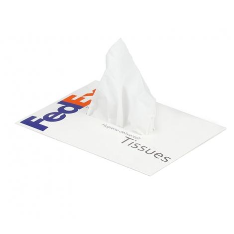 Boîte de mouchoirs rectangulaire au choix à personnaliser.
