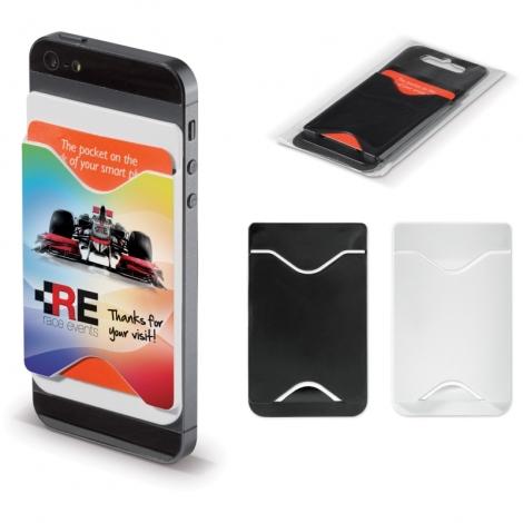 Porte cartes publicitaire pour smartphone
