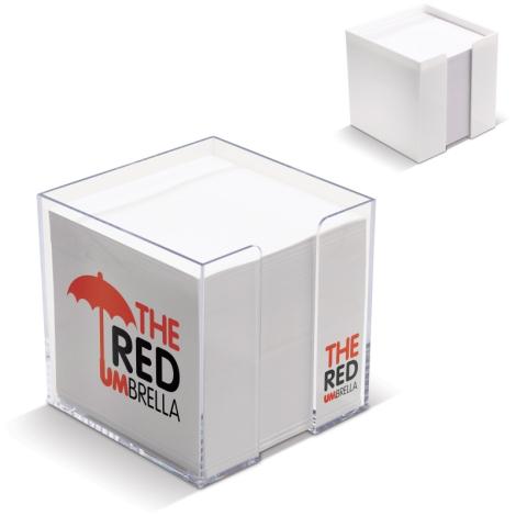 Cube publicitaire avec papier