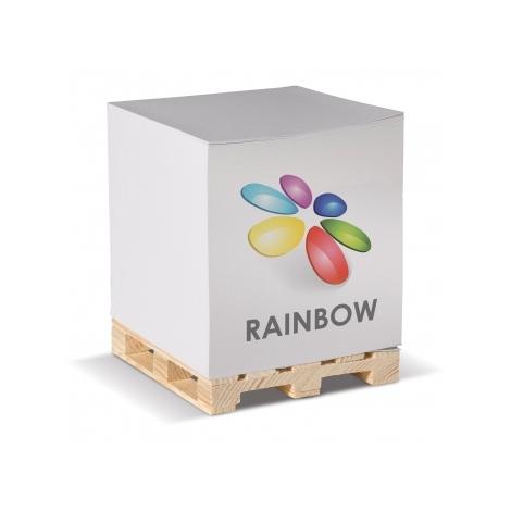 Cube de papier sur palette personnalisé