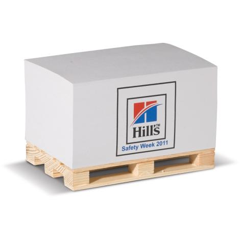 Cube papier sur palette personnalisable