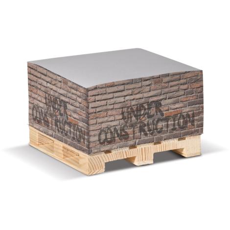 Cube de papier publicitaire sur palette