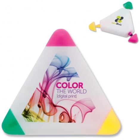 Surligneur publicitaire triangle avec logo