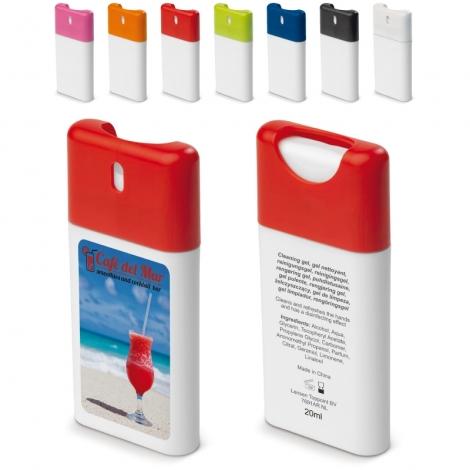 Spray nettoyant publicitaire pour les mains