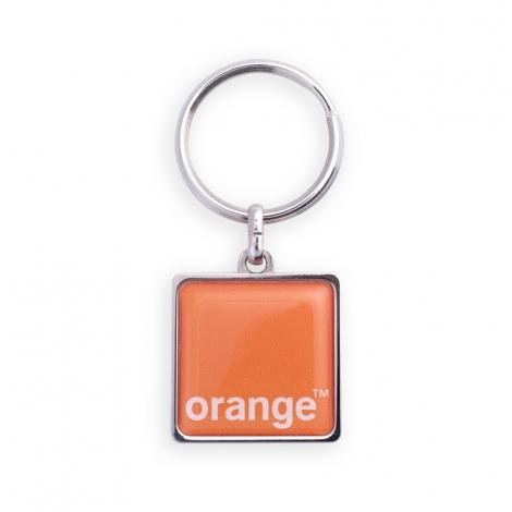 Porte-clés publicitaire - forme carrée