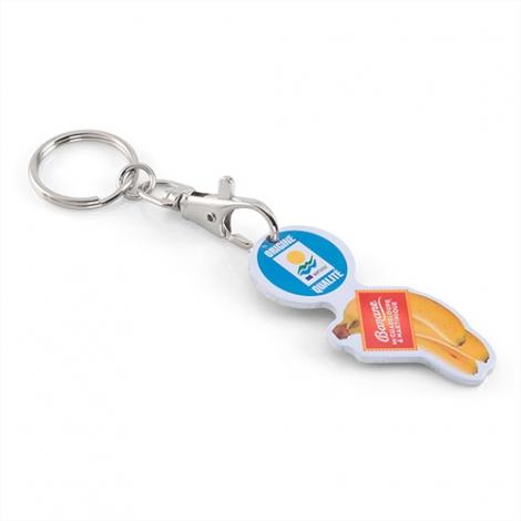 Porte-clés jeton publicitaire sur mesure