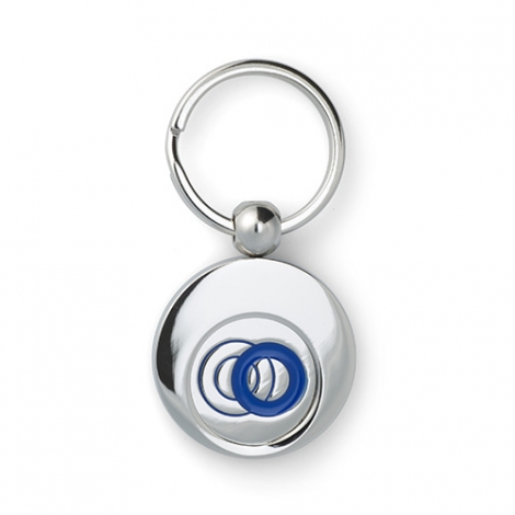 Porte-clés avec jeton publicitaire