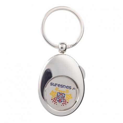 Porte clés publicitaire ovale avec jeton