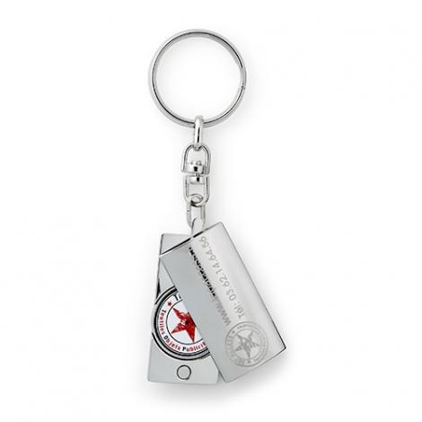 Porte-clés jeton publicitaire - Totem