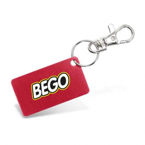 Porte-clés publicitaire avec plaque alu