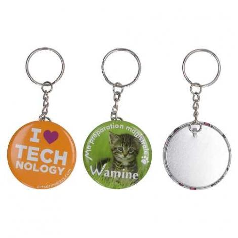 Porte-clés badge et publicitaire