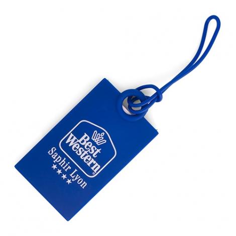 Etiquette à bagage publicitaire en silicone