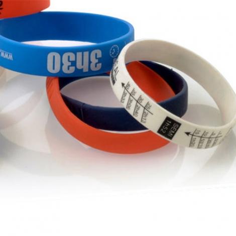 Bracelet silicone classique et publicitaire