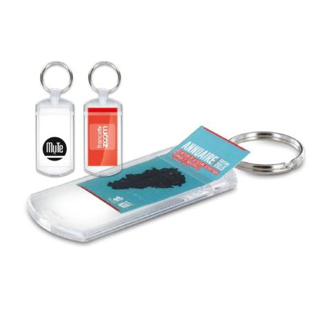 Porte-clés porte-étiquette publicitaire