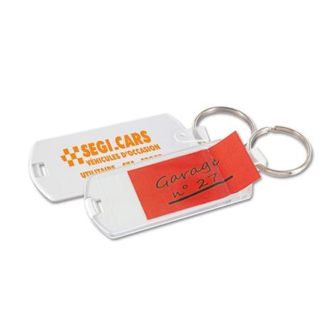 Porte-clés avec étiquette personnalisable