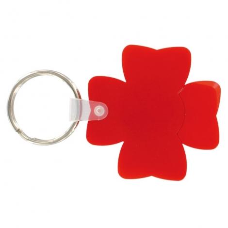 Porte-clés jeton en forme de trèfle