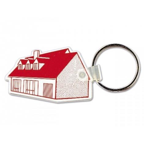 Porte-clés en plastique souple publicitaire