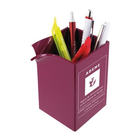 Pot à crayons publicitaire personnalisable