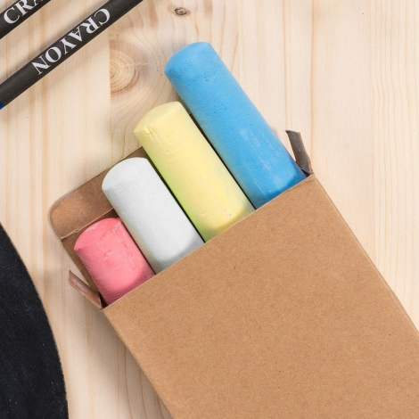 Set personnalisé de 4 craies de couleur