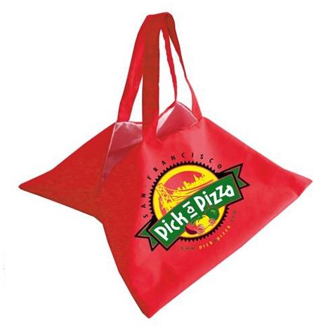 Sac à pizza publicitaire en coton 240 gr avec doublure
