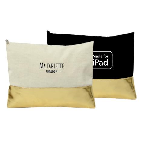 Pochette publicitaire pour tablette en coton 240 gr - LUXE BAG