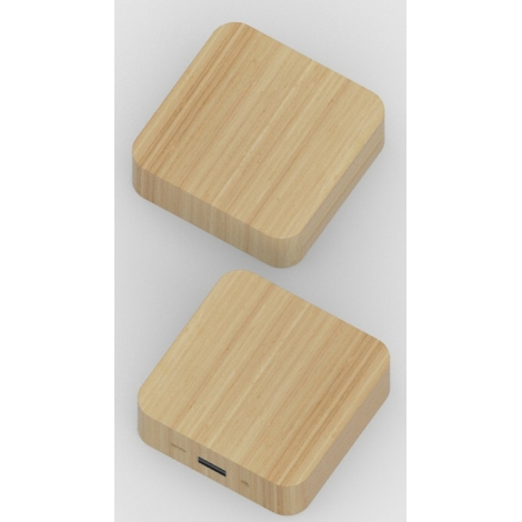 Power Bank personnalisable Bamboo Square