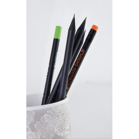 Crayon publicitaire rond 17,6 cm - Prestige Black