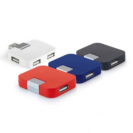 Hub publicitaire avec 4 ports USB