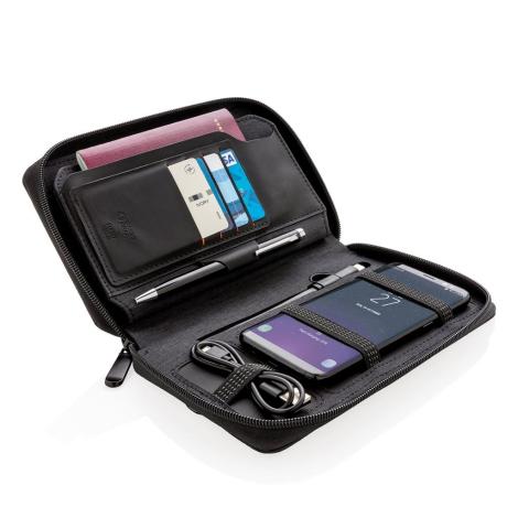 Portefeuille personnalisable avec chargeur à induction.