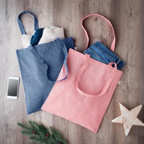 Sac shopping recyclé publicitaire - Cottonel Duo