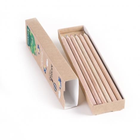 Fourreau publicitaire - crayons Eco hexagonaux 17.6 cm sans vernis