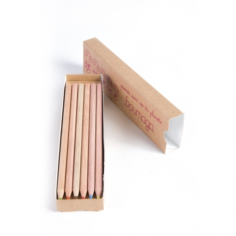 Fourreau publicitaire 6 ou 12 crayons de couleurs 17.6 cm