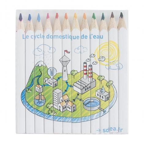 Sets 4, 6 ou 12 crayons publicitaires 8.7 cm