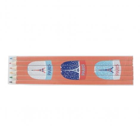 Set publicitaire - quadri 17.6 cm, 4 - 6 ou 12 crayons couleurs Eco