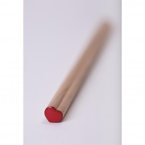 Crayon publicitaire prestige naturel sans vernis - coeur