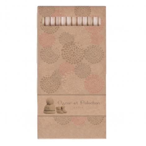 Lot 6 ou 12 crayons aquarelle 17,6 cm - Eco sans vernis