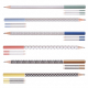 Étui 4 crayons de bois publicitaires - Graph