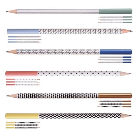 Étui 4 crayons publicitaire à papier - Graph