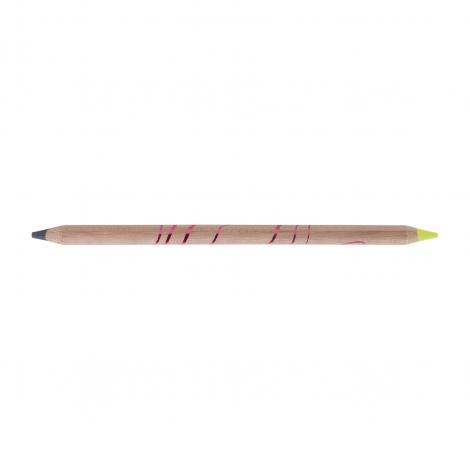 Surligneur bi-coul graphite/fluo publicitaire