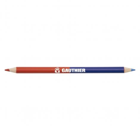 Crayon de couleur publicitaire vernis bicolor pantone