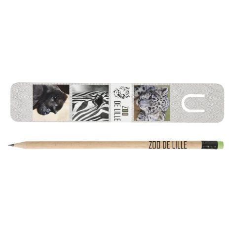 Kit personnalisé marque-page et crayon Pantone - 17,6 cm