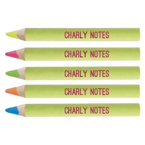 Crayon fluo seul publicitaire, prestige vernis pantone 8.7 cm