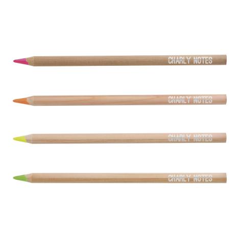 Crayon fluo publicitaire prestige naturel 17.6 cm